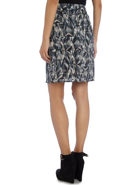 La Fee Maraboutee Wraparound Skirt Geometric Print