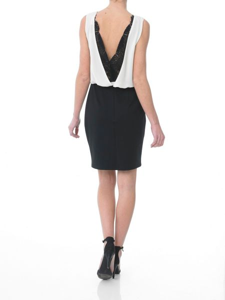 Sinequanone Contrast Dress with lace open back