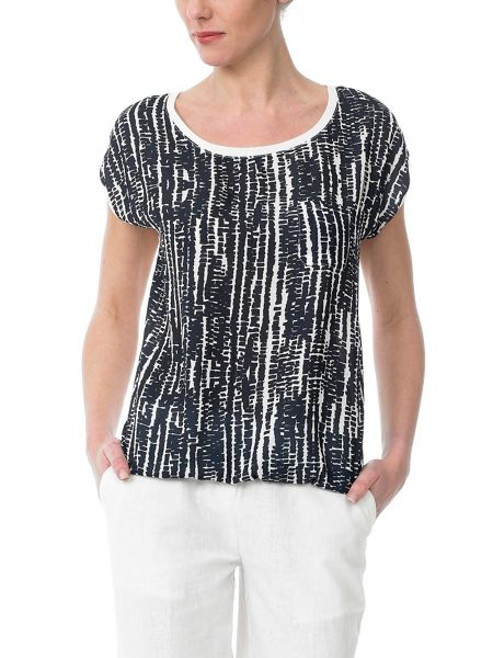 Sinequanone Printed Short-Sleeved Top Round Neck