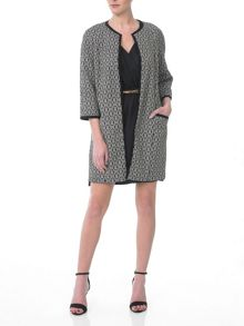 3/4 Sleeves Oversized Coat with Pockets