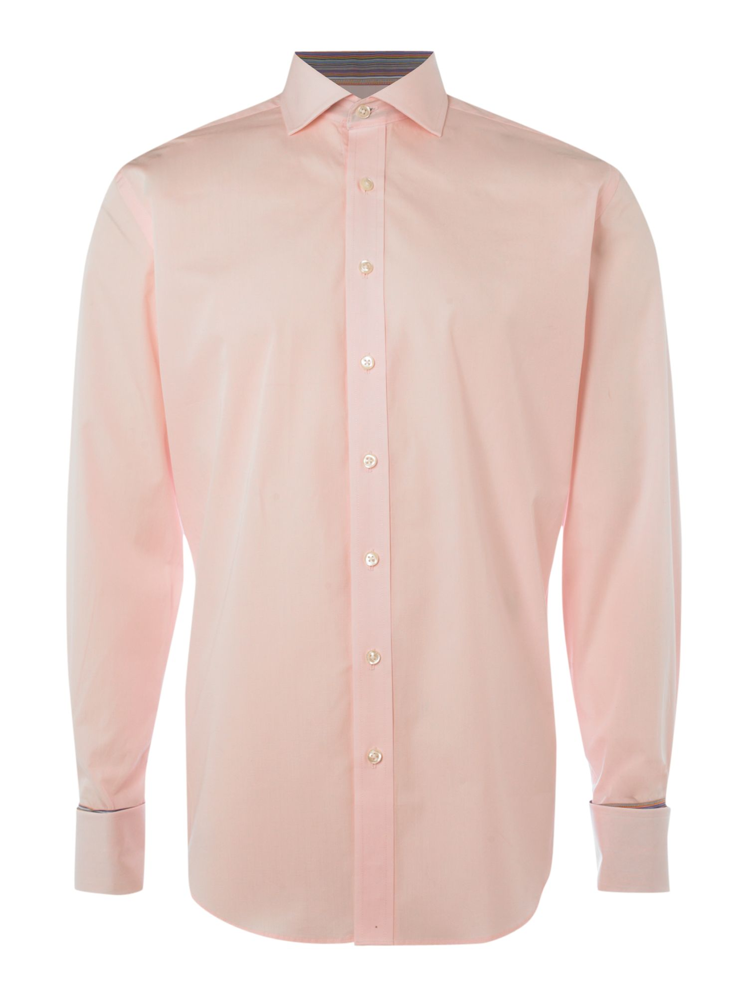 Formal cotton long-sleeved poplin shirt
