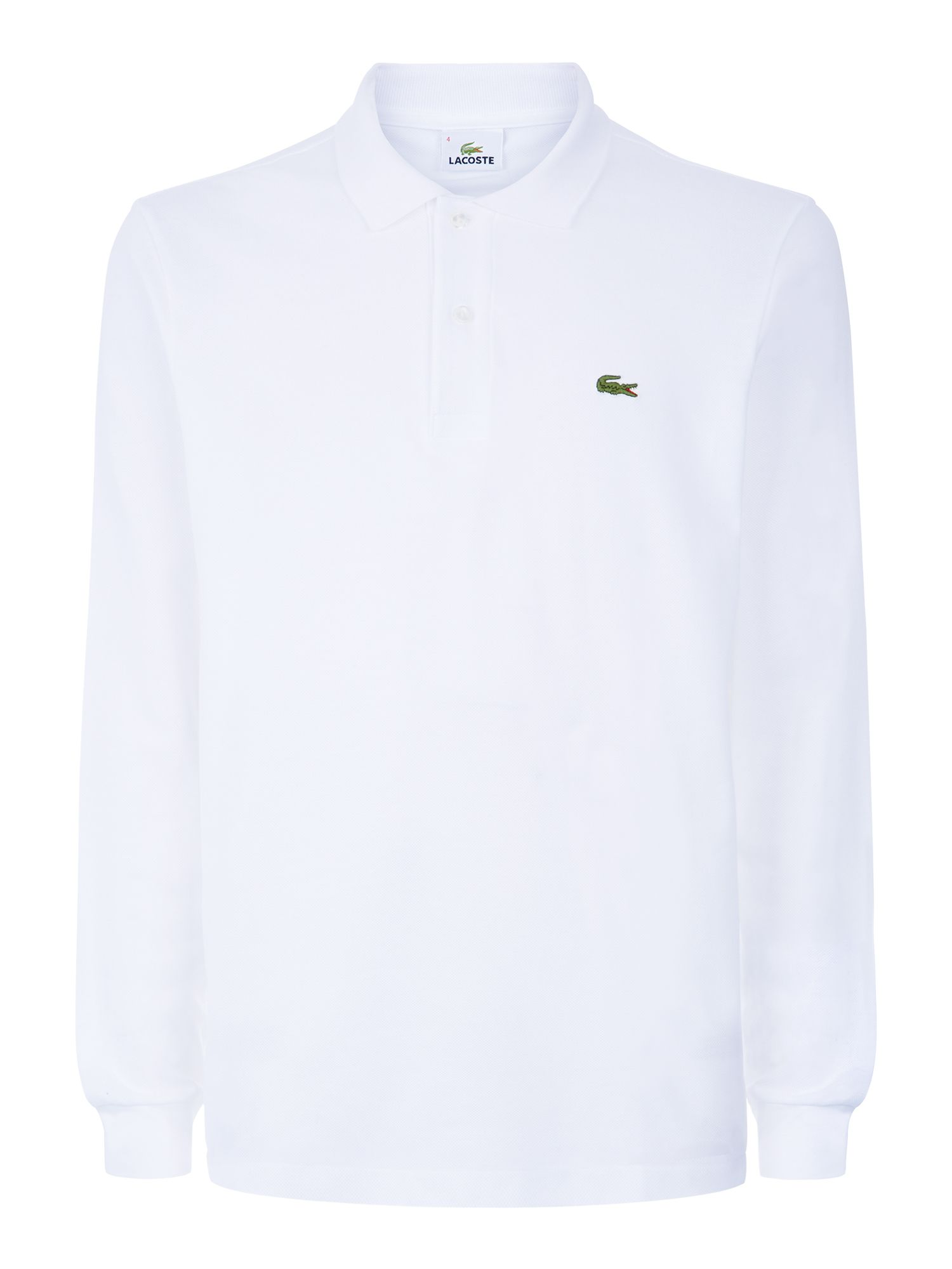 Men's Lacoste Lacoste Long Sleeve L.12.12 Polo, White