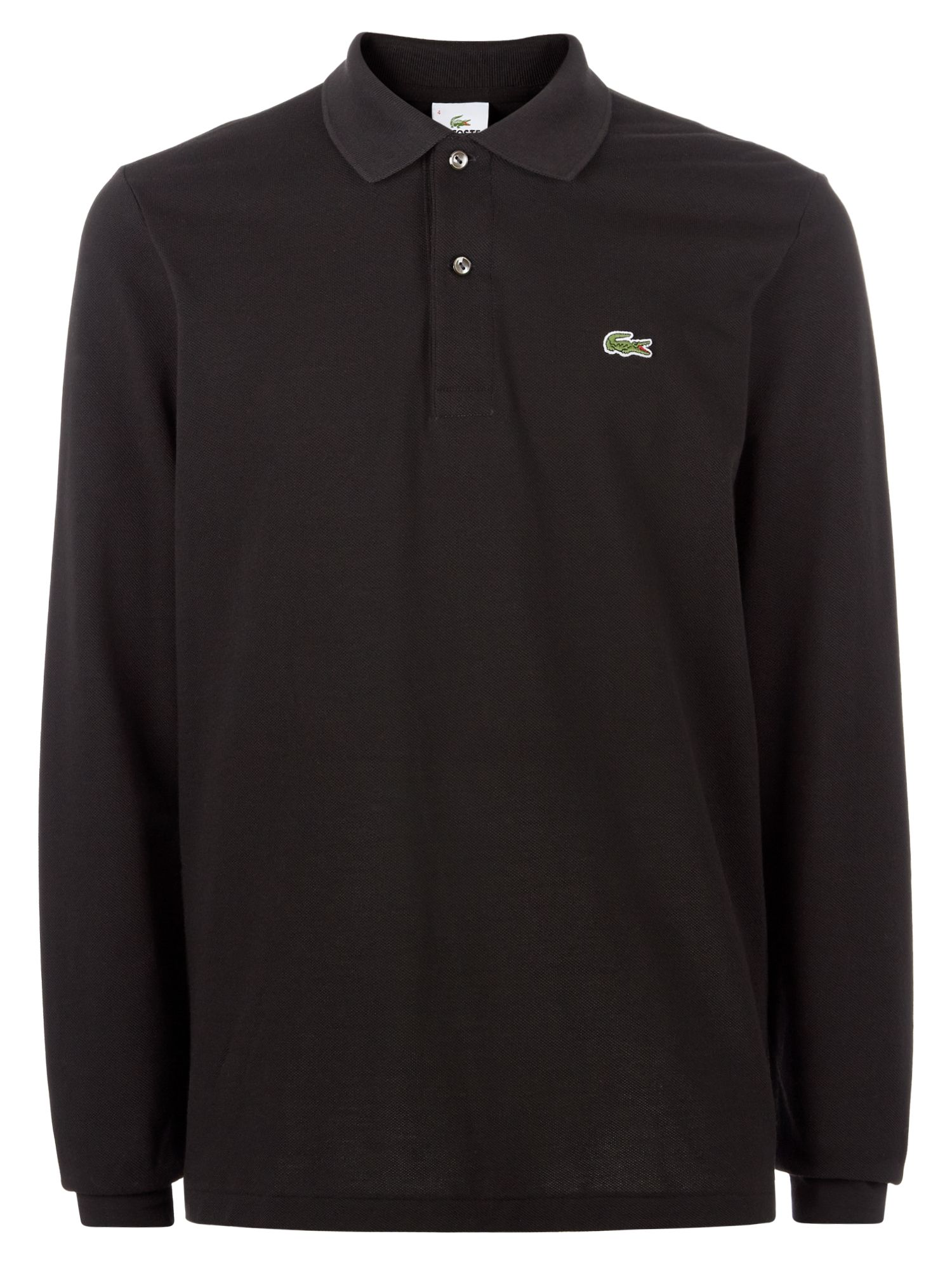 Men's Lacoste Lacoste Long Sleeve L.12.12 Polo, Black