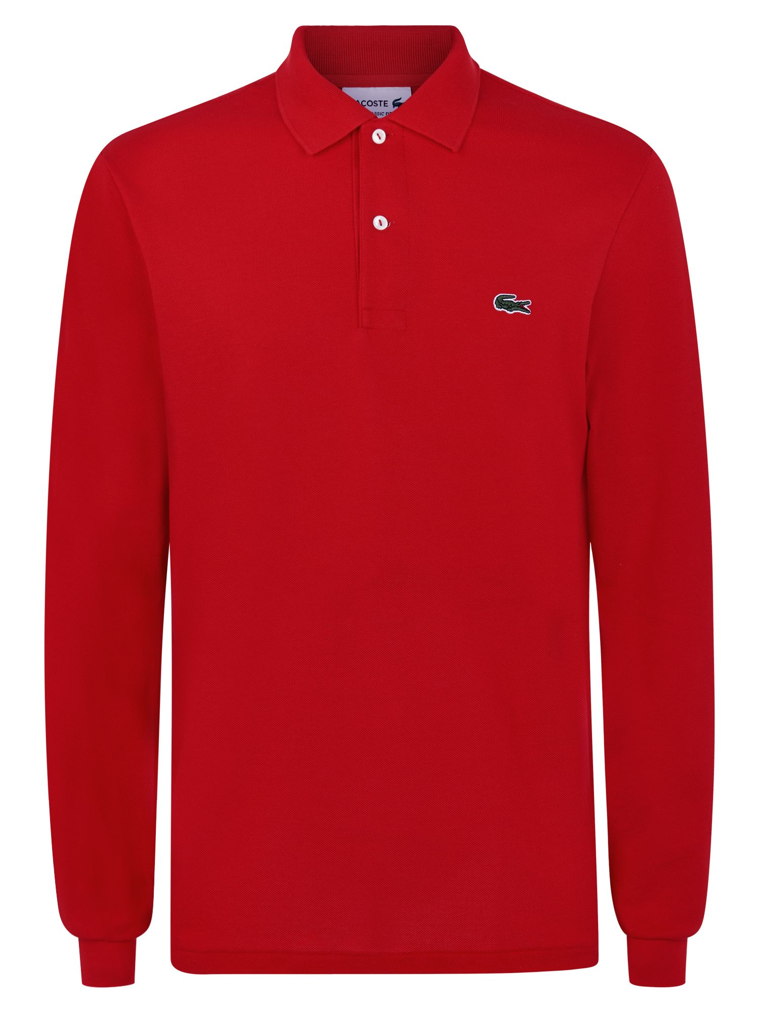 Men's Lacoste Lacoste Long Sleeve L.12.12 Polo, Red