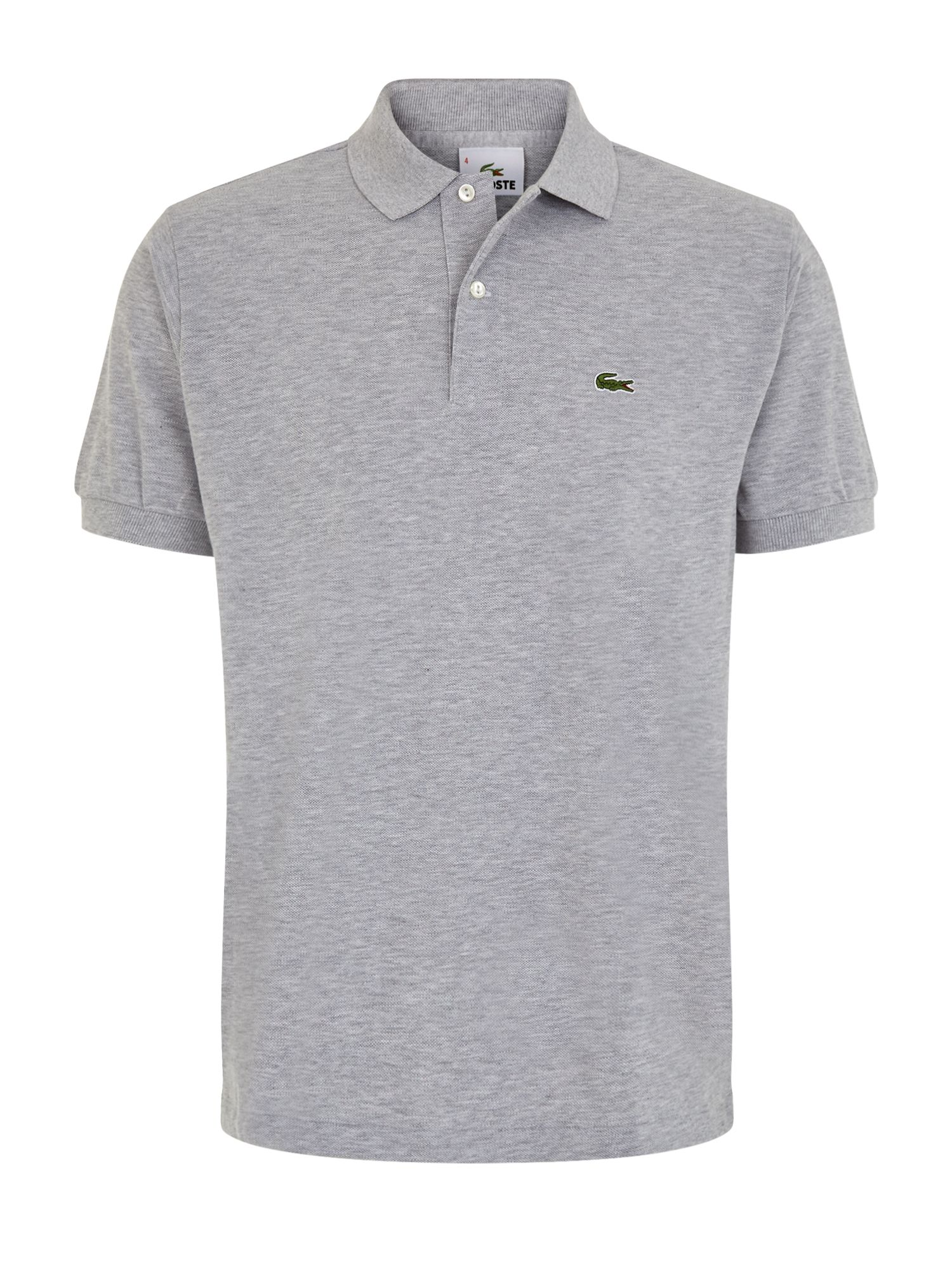 Men's Lacoste Marl l.12.12 original polo, Grey