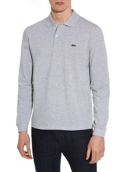 Lacoste Long sleeve ribbed collar polo