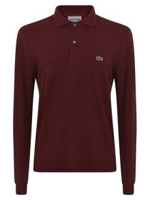 Long sleeved ribbed collar polo