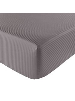 Baptiste ardoise fitted sheet 90x190