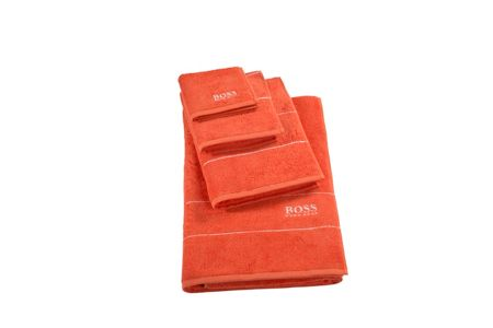 Hugo Boss Plain tangerine bath sheet 100x150