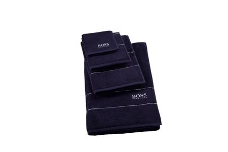 Hugo Boss Plain navy face cloth 30x30
