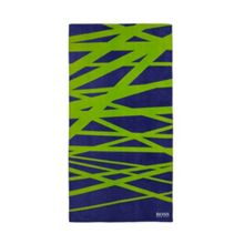 Crossed lines navy beach towel 90x180