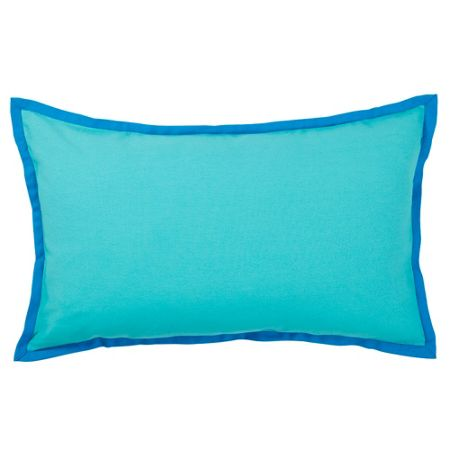 Olivier Desforges Sorbet turquoise cushion cover 30x50