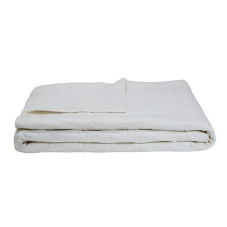 Olivier Desforges Sillage blanc bed cover 260x240
