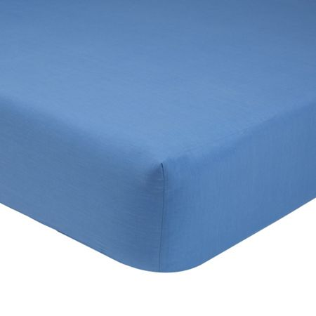 Olivier Desforges Alcove azur double fitted sheet