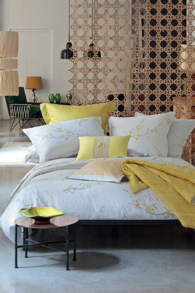 Olivier Desforges Fiancee Mimosa cushion cover