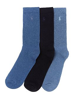 3 pack cotton crew socks