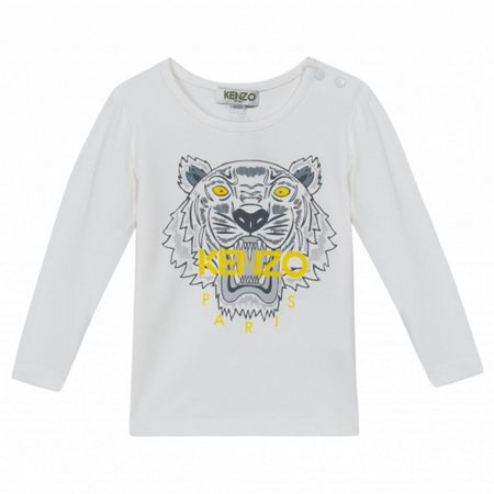 Kenzo Girls long sleeve Tiger t-shirt