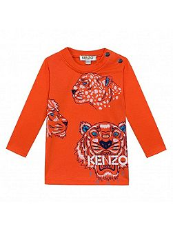 Boys Tiger Print T-Shirt