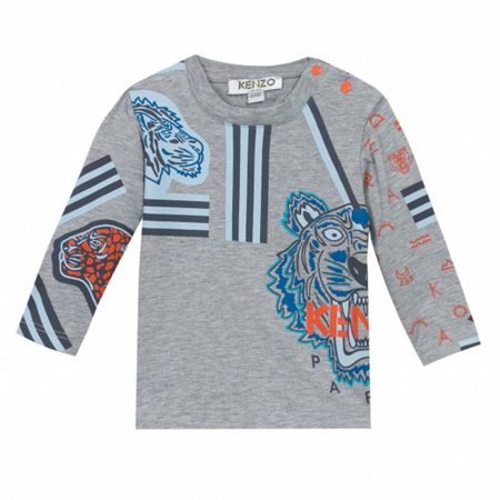 Kenzo Boys long sleeve Animal-Print t-shirt