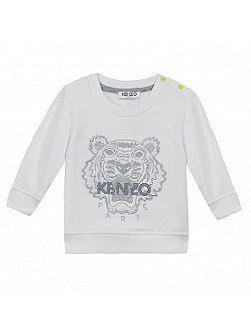 Girls Embroidered-Tiger Sweatshirt