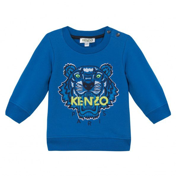 Kenzo Boys Jungle Tiger Sweatshirt Blue