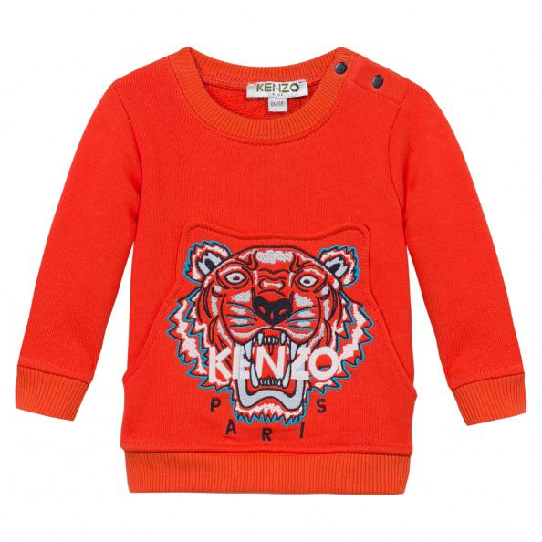 Kenzo Boys Jungle Tiger Sweatshirt Orange