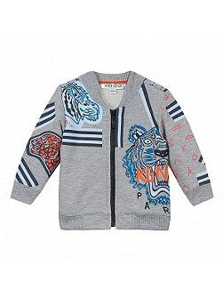 Boys Jungle-Print Cardigan
