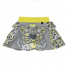 Kenzo Girls Tiger-Print Cotton Skirt