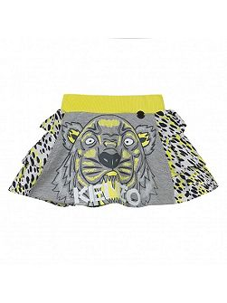 Girls Tiger-Print Cotton Skirt