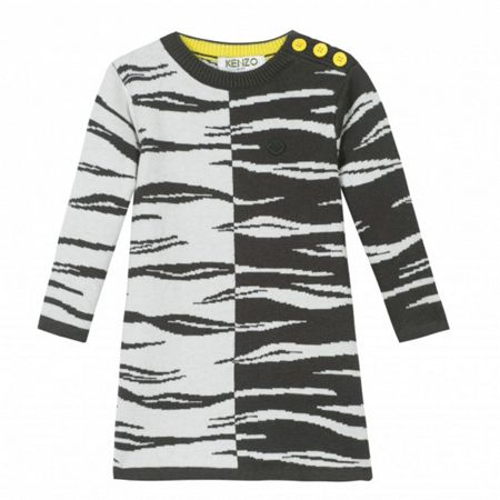 Kenzo Girls White Tiger dress