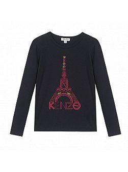 Girls Eiffel-Tower T-shirt
