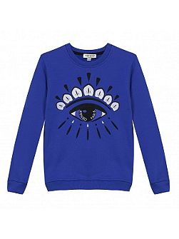 Girls Embroidered-Eye Sweatshirt