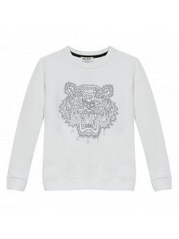 Girls Studded-Tiger Sweatshirt