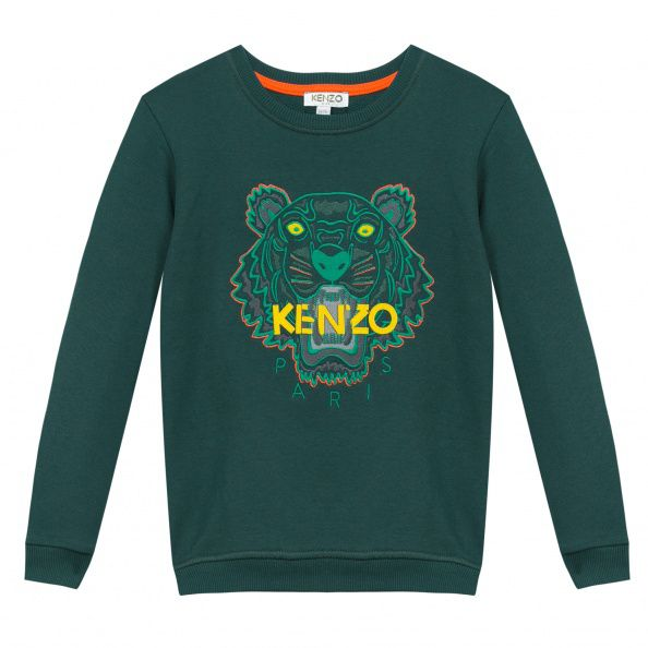 Kenzo Boys Jungle Tiger Sweatshirt Green