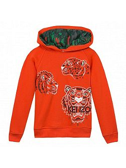 Boys Jungle-Print Hooded Sweatshirt