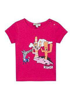 Baby Girls Dog Cartoon T-Shirt