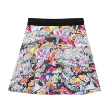 Kenzo Girls Cartoon Print Skater Skirt