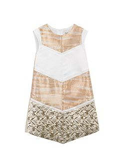 Girls Jacquards and Tiger Striped Dress