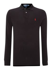 Custom-fit long-sleeve polo shirt
