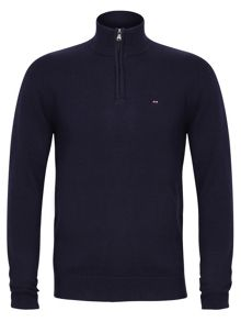Plain zip jumper
