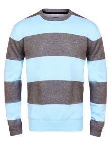 Belge Stripe Crew Neck Pull Over Jumper