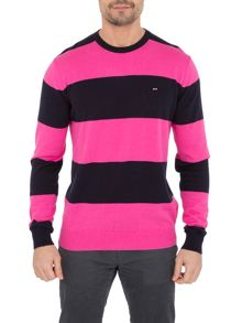 Eden Park Belge Stripe Crew Neck Pull Over Jumper