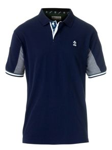 Navy color rugby polo t-shirt