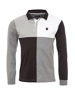 Colour Block Cotton Rugby Shirt