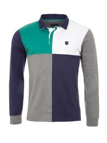 Eden Park Colour Block Cotton Rugby Shirt