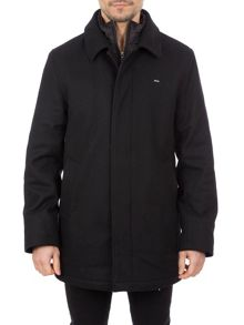 Eden Park Wool Blend Mid-length Jacket