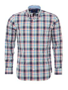 Eden Park Checked Cotton Shirt With Elbow Patches