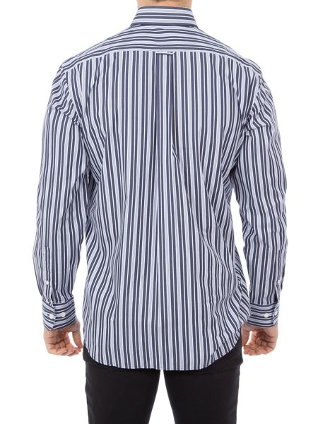 Eden Park Striped Shirt With Chest Pocket