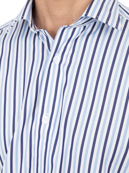 Eden Park Slim Fit Striped Cotton Shirt
