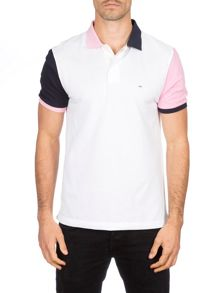 Eden Park Cotton Polo Shirt With Coloured Sleeves